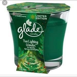 2 Glade Tree Lighting Wonder Fir Candle Jars